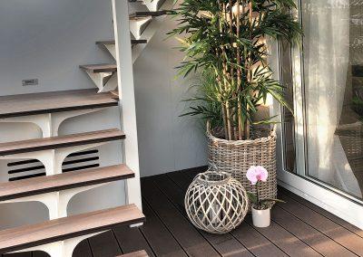 Stopnice na teraso